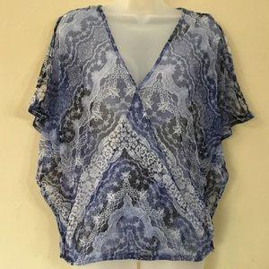 INC- IC Transparent Blouse Women Size L